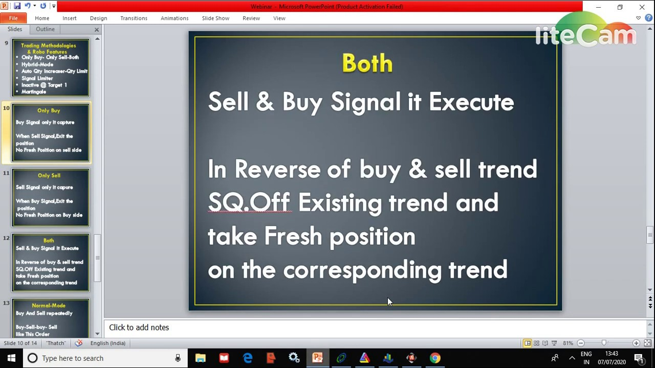 Robo Trading Concepts & Features in Tamil Part-2