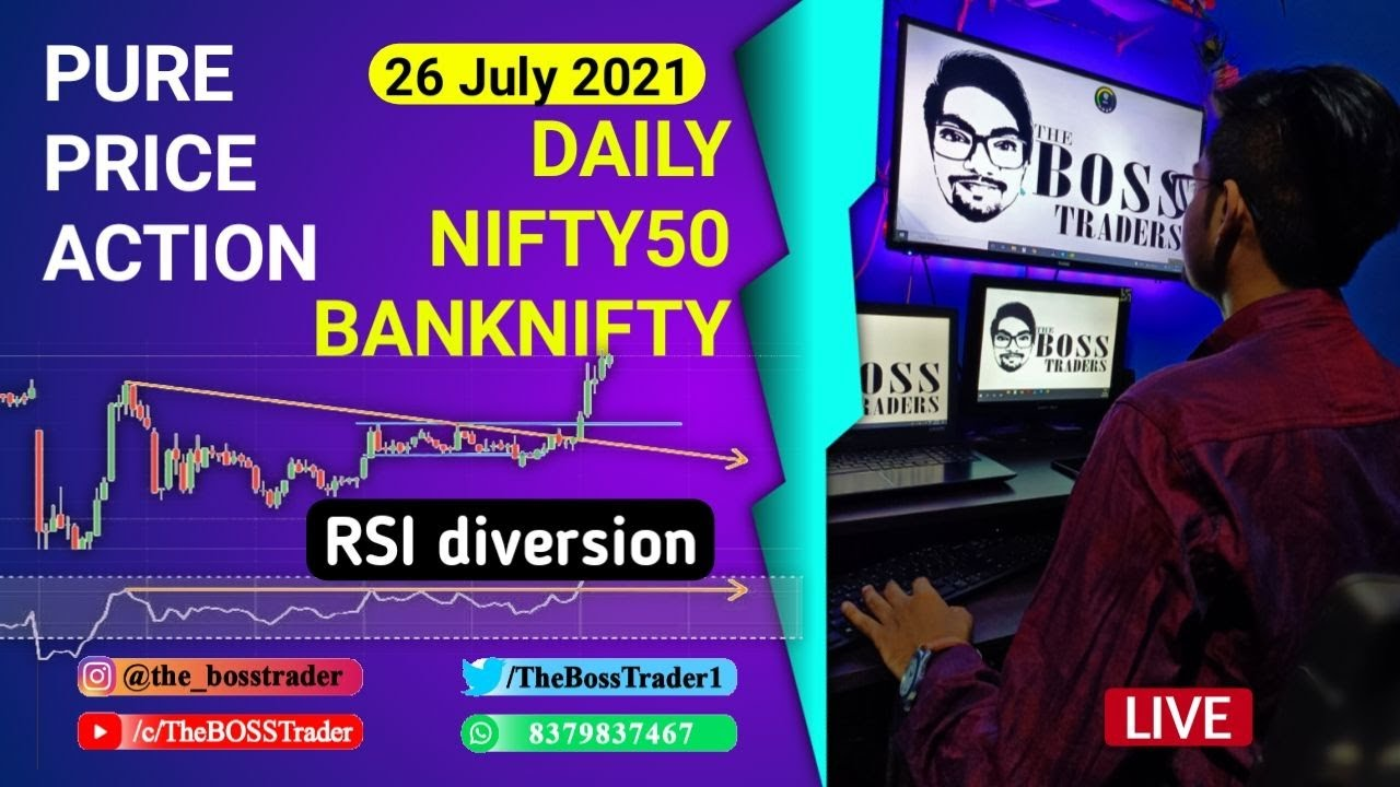 Live Banknifty Analysis   Live daily Analysis   Price Action   26 July   The BOSS Trader