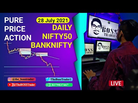 Live Banknifty Analysis | Live daily Analysis | Price Action | 28 July | The BOSS Trader